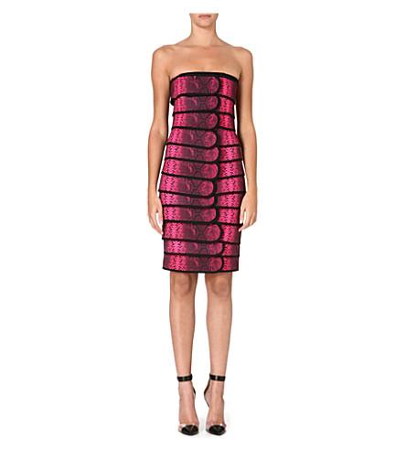 CHRISTOPHER KANE Snake-print panelled dress (Pink