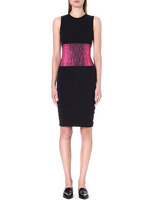 CHRISTOPHER KANE Python-embossed waist dress