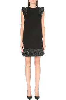 CHRISTOPHER KANE Ruched-trim crepe dress