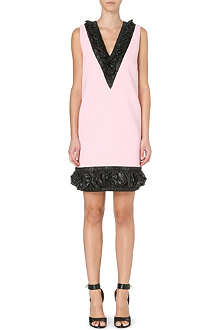 CHRISTOPHER KANE Ruched-trim shift dress