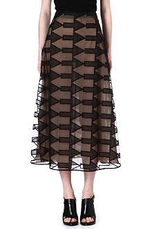 CHRISTOPHER KANE Arrow-embroidered silk-blend skirt