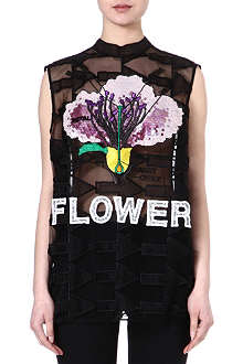 CHRISTOPHER KANE Embroidered top
