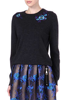 CHRISTOPHER KANE Floral embroidered jumper