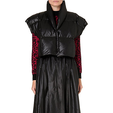CHRISTOPHER KANE Sleeveless puff jacket (Black