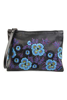 CHRISTOPHER KANE Embroidered leather pouch bag