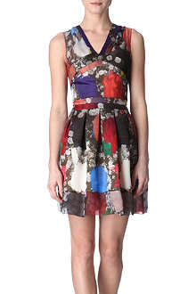 CHRISTOPHER KANE Princess sheer-shoulder dress