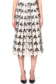 CHRISTOPHER KANE Laser cut anatomical flower skirt