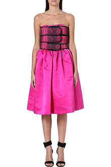 CHRISTOPHER KANE Python-print bandeau dress