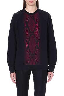 CHRISTOPHER KANE Python-embossed sweatshirt