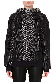 CHRISTOPHER KANE Printed cotton hoody