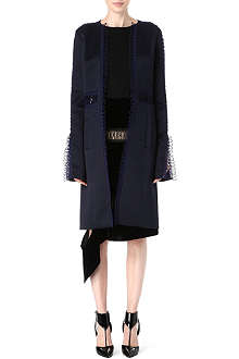 CHRISTOPHER KANE Loop tape silk coat