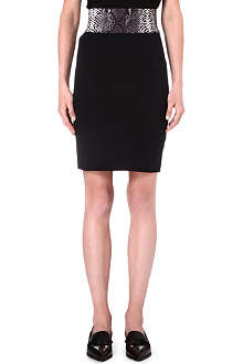 CHRISTOPHER KANE Python-embossed pencil skirt