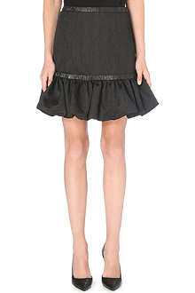 CHRISTOPHER KANE Ruched-hem taffeta skirt