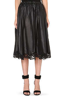 CHRISTOPHER KANE Gathered lace hem skirt