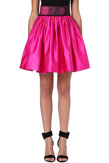 CHRISTOPHER KANE Flared silk skirt