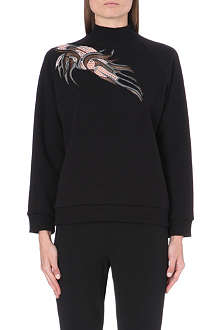 CHRISTOPHER KANE Turtleneck guipure lace sweatshirt