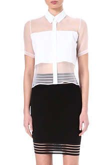 CHRISTOPHER KANE Sheer-panel shirt