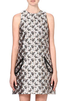 CHRISTOPHER KANE Jacquard petal pocket shift dress