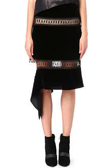 CHRISTOPHER KANE Loop-tape velvet skirt