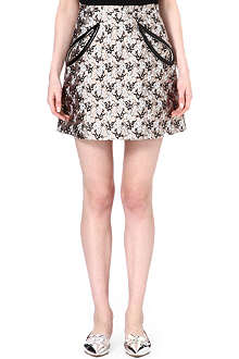 CHRISTOPHER KANE A-line jacquard skirt