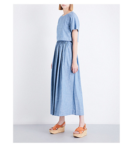 CHLOE Layered denim dress (Paloma+blue