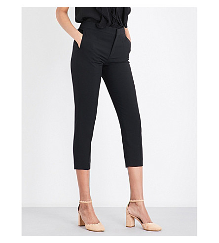 CHLOE Tapered woven trousers (Nr001+black