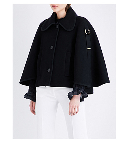 CHLOE Buckled wool-blend jacket (Nr001+black