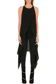 GARETH PUGH Draped crepe top