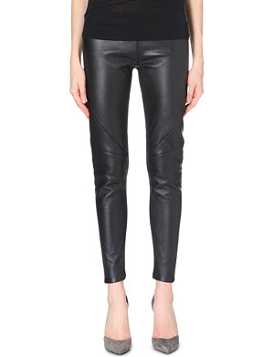 GARETH PUGH Panelled leather leggings