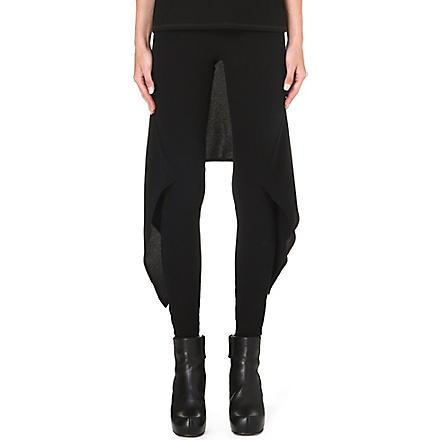 GARETH PUGH Back-skirt jersey trousers (Black
