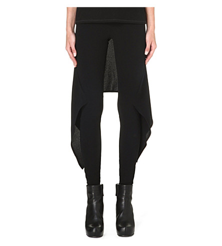 GARETH PUGH Back-skirt jersey trousers (Black