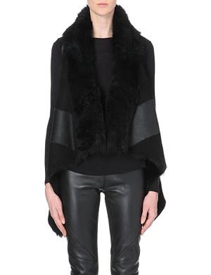 GARETH PUGH Draped sleeveless leather jacket
