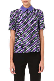 ROKSANDA ILINCIC Estes checked top
