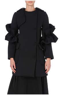 SIMONE ROCHA Ruffle-detail neoprene coat