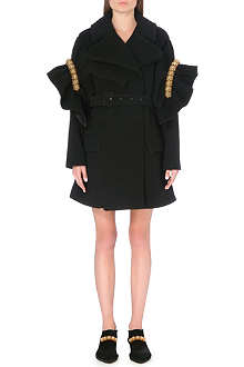 SIMONE ROCHA Bead-embellished wool-blend coat