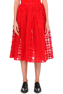 SIMONE ROCHA Grid-embroidered midi skirt