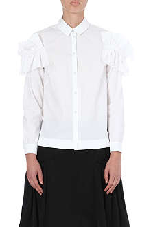 SIMONE ROCHA Ruffle-detail cotton shirt