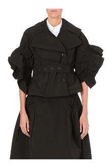 SIMONE ROCHA Gathered-sleeve taffeta jacket