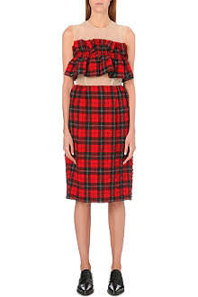 SIMONE ROCHA Frilled tartan and tulle dress