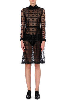 SIMONE ROCHA Floral-embroidered tulle dress