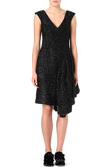 SIMONE ROCHA Draped-side tinsel dress