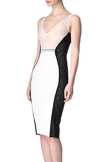 ANTONIO BERARDI Mesh-panel dress