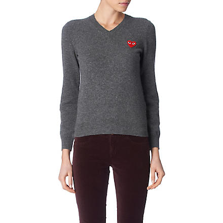 PLAY V–neck jumper (Grey
