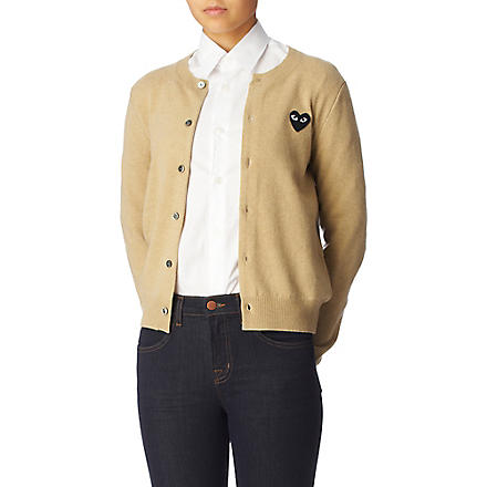 PLAY Crew-neck cardigan (Camel