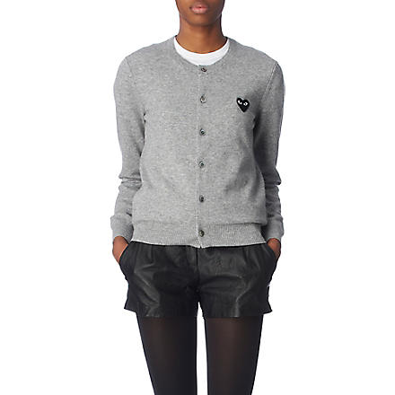 PLAY Heart cardigan (Grey