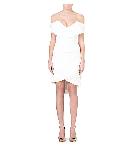 VIVIENNE WESTWOOD Cocotte draped silk dress (Ivory