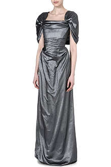 VIVIENNE WESTWOOD Off-the-shoulder silk gown