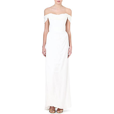 VIVIENNE WESTWOOD Off-the-shoulder silk gown (Ivory
