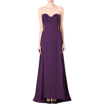 VIVIENNE WESTWOOD Ruffle-front gown (Purple