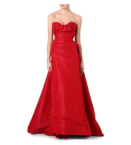 VIVIENNE WESTWOOD Ruffle bustier silk dress (Red